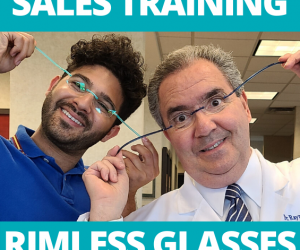 rimless glasses sales training